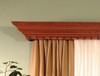 The Corinthian cornice with dentil detail.