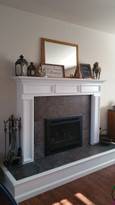 Custom Danbury on raised hearth