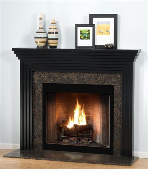 Wood fireplace mantels fireplace mantels contemporary standard mantelcraft - Beneficial contemporary fireplace mantel shelves ...