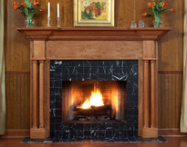 Solid columns and large crown molding makes the Princeton mantel an excellent choice.