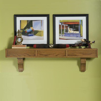 Craftsman mantel shelf with optional corbels