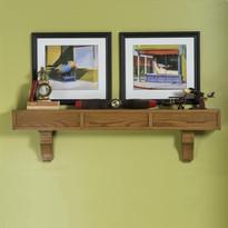 Craftsman mantel shelf with optional corbels