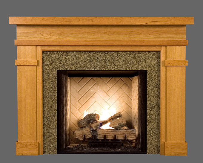 Wood fireplace mantel surrounds bridgewater american for Wood fireplace surround designs
