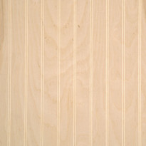 Ready-to-finish beaded birch wainscot paneling