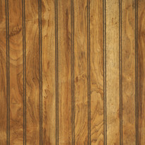 Richly colored Natchez Pecan laminated paneling in 4 x 8 sheets