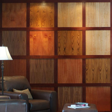 Combination of Fine Wood Veneer wall Paneling