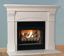the toscana stone mantel is lightweight and available in two limestone finish colors a hearth - Stone Fireplace Surround