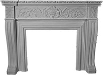 Elaborate Acanthus Leaf Stone Fireplace Mantel