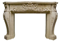 Ornate cast mantel.  Paint, stain or faux finish.  Acanthus leaves and more