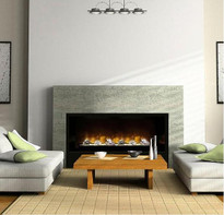 The HF60 Electric Fireplace can be uses as a insert or built-in fireplace