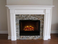 "HF42 Homefire 42"" with Leesburg Wood Mantel from Mantelcraft"
