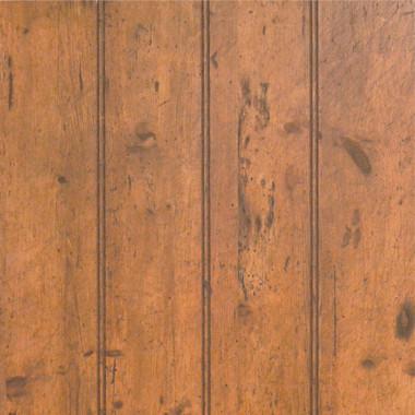 wine cellar oak 4 inch beaded paneling closeup