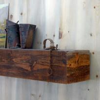 Shenandoah Rustic Mantel Shelf in Antique Brown