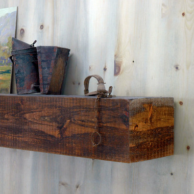 appalachian rustic mantel shelf in antique brown