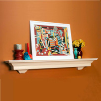 The Lynlee is a fireplace mantel shelf with decorative corbels attached
