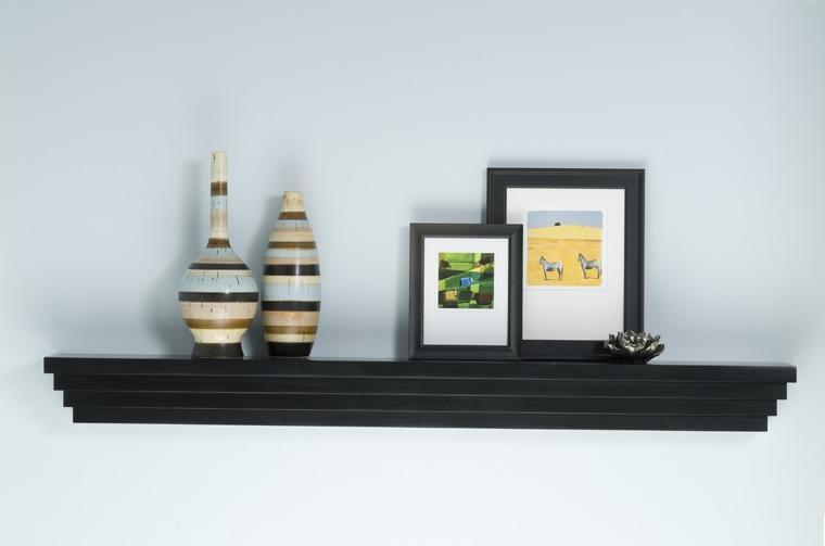 Fireplace mantel shelves mantel shelf modern mantelcraft - Types fireplace mantel shelves choose ...