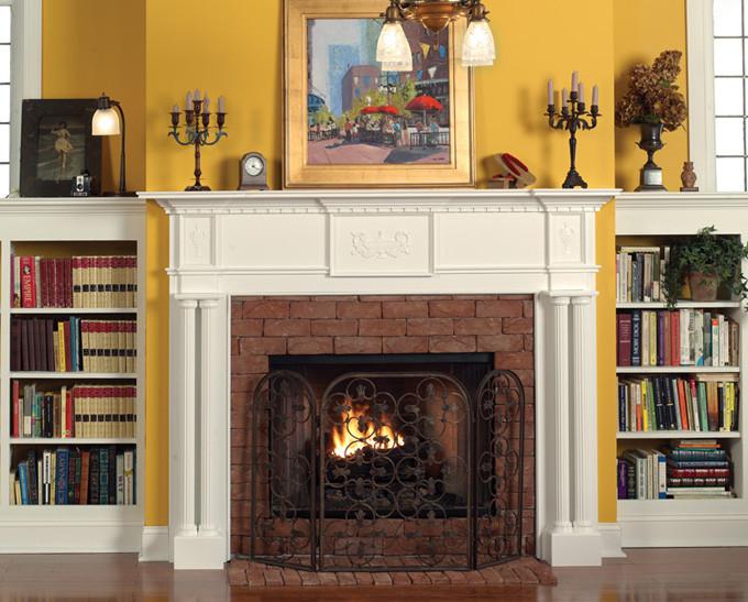 Wood Fireplace Mantels : Wood fireplace mantels mantel surrounds victoria