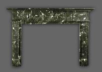 The Hamilton mantel design with Greek Revival elements.