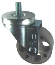 "3"" x 1-1/4"" Steel Wheel Caster with 1/2"" Threaded Stem (1"" Length) - 300 Lbs Cap."