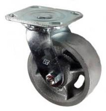 "5"" x 2"" Cast Iron Wheel Swivel Caster - 900 lbs Capacity"