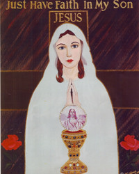 Our Lady of Compassionate Protection picture with Eucharist - Print