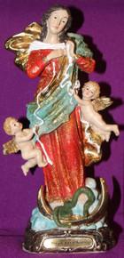 Mary Undoer of Knots Statue with prayer card