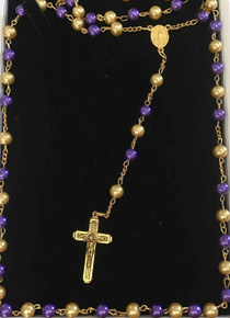 Purple and Gold Rosary
