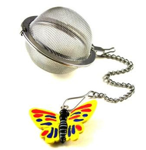 Mesh Ball Tea Infuser - 2 inches - Butterfly Design