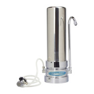 6 Stage Countertop Water Filtration Crystal Quest: 10K or 20K GAL and White or Stainless Steel Finish