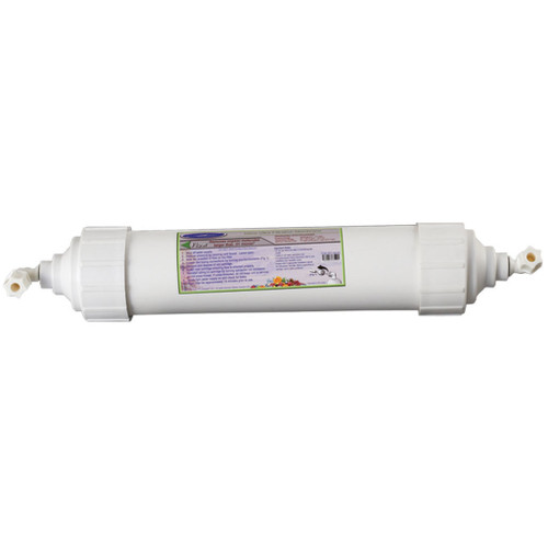 Inline UF Membrane Filter REPLACEMENT Cartridge for Reverse Osmosis. Effectively removes colloids, proteins, bacteria, viruses, parasites, protozoa and pyrogens (e.g., gram-negative bacterial endotoxins), and other organic molecules larger than .01 micron size.
