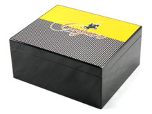 Columbo Medium Black Cigar Humidor