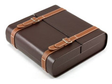 Maximus Brown Travel Cigar Humidor