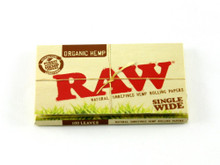 RAW Single Wide Organic Hemp Rolling Papers