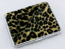 Big Cheetah Fur Cigarette Case