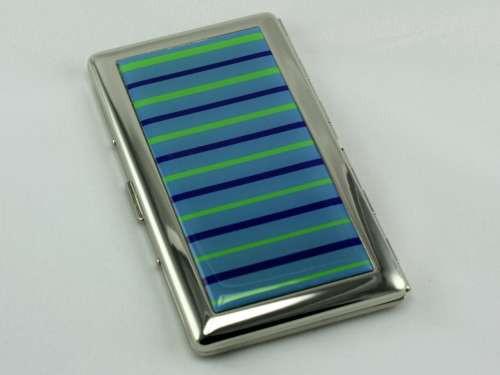 Blue Line Mirror Cigarette Case
