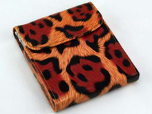 Red Cheetah Flip Top Cigarette Case