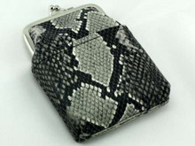 Grey Snakeskin Cigarette Pack Holder