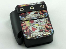 Lucky Tattoo Leather Cigarette Pack Holder