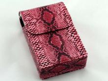 Pink Snakeskin Cigarette Pack Holder