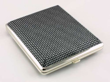 Gray Weaved Cigarette Case
