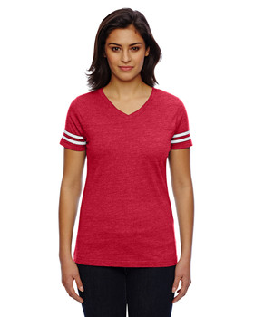 LAT Drop Ship Ladies' Football Fine Jersey T-Shirt
