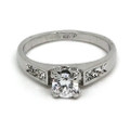 White-Gold Plated Promise Ring with CZ Stone