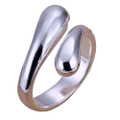 925 Sterling Silver Adjustable Tear Drop Thumb Ring