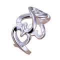 925 Sterling Silver Adjustable 'Infinite Love' Thumb Ring
