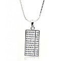 Elegant Rectangle Crystal, Chinese Calculator Women Necklace, FREE  Chain
