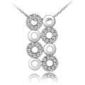 Elegant Symmetric Crystal Pendant, Women Necklace, FREE  Chain