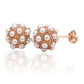 18K Rose Gold Plated Earrings with Stunning Pearl Accents