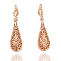 18K Rose Gold Plated Dangle Earrings with Lever Back