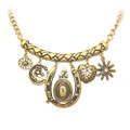 Beautiful Antique Cowgirl Bar Charm Necklace for Women