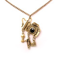 Fashion Antique Camera Pendant Sweater Necklace with Hanging Charms!